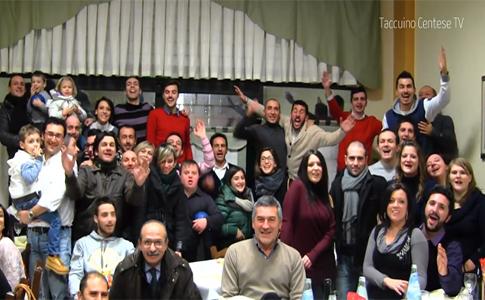 Taccuino Centese TV alla cena natalizia del Guercino Calcio