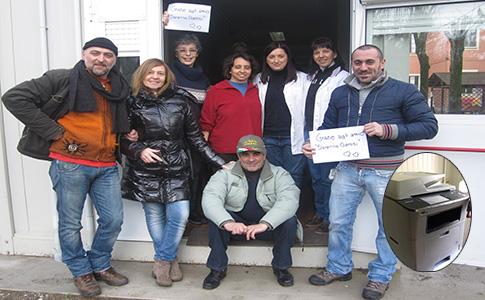Foto di gruppo e fotocopiatrice