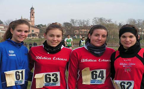 Chiara Manfredini e l'Atletica Estense ai campionati italiani corsa campestre