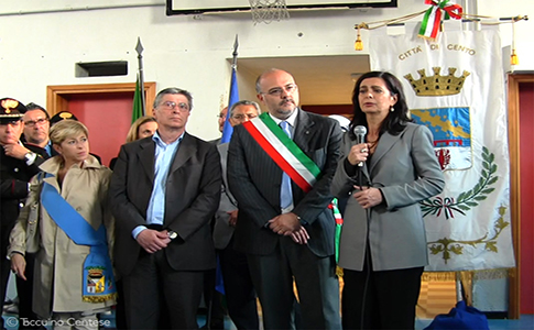 Laura Boldrini e Vasco Errani nel servizio di Taccuino Centese TV