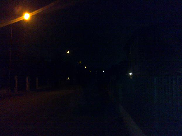 Una parte del Penzale in black out