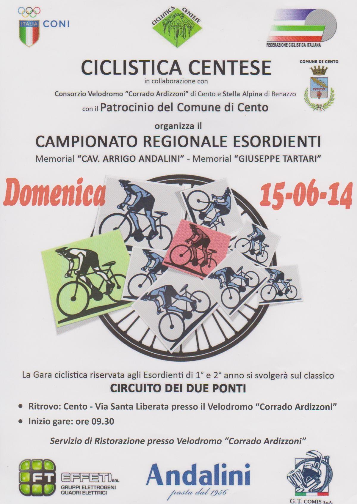 Domenica 15 Giugno: Bella giornata di ciclismo giovanile a Cento!