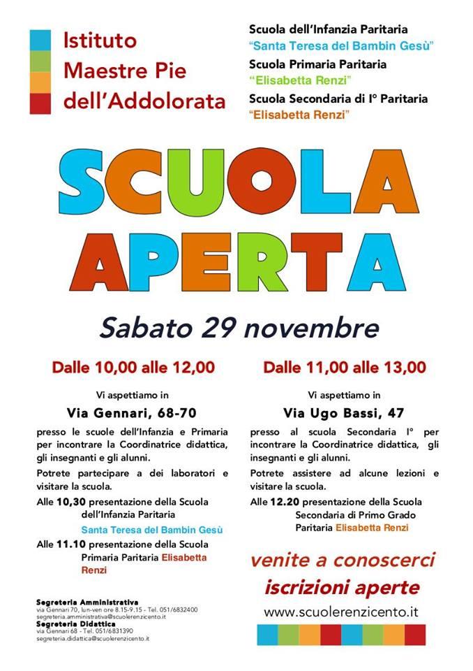 OPEN DAY ALLE SCUOLE RENZI DI CENTO!