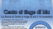 CENTO (FE) – LA ROCCA SI TINGE DI BLU PER LA GIORNATA MONDIALE DEL DIABETE