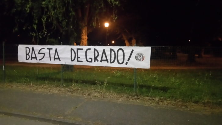 """CENTO (FE) UNA CITTÀ NEL DEGRADO, PROTESTA DI CASAPOUND: """"LA SICUREZZA NON SIA SOLO UNO SLOGAN"""" !"""