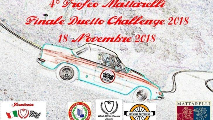 VIGARANO MAINARDA (FE) QUARTO TROFEO MATTARELLI – FINALE DUETTO CHALLENGE